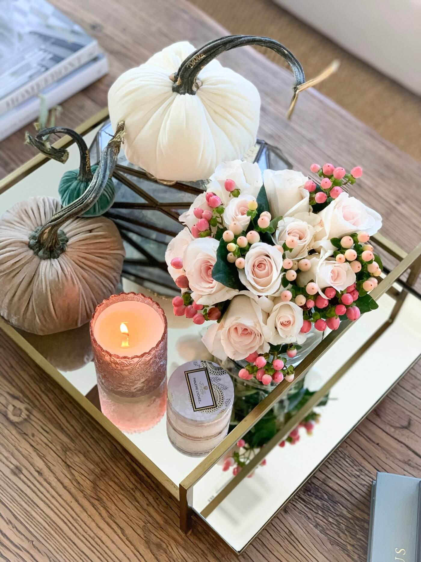 Glam Fall Home Tour- Living Room
