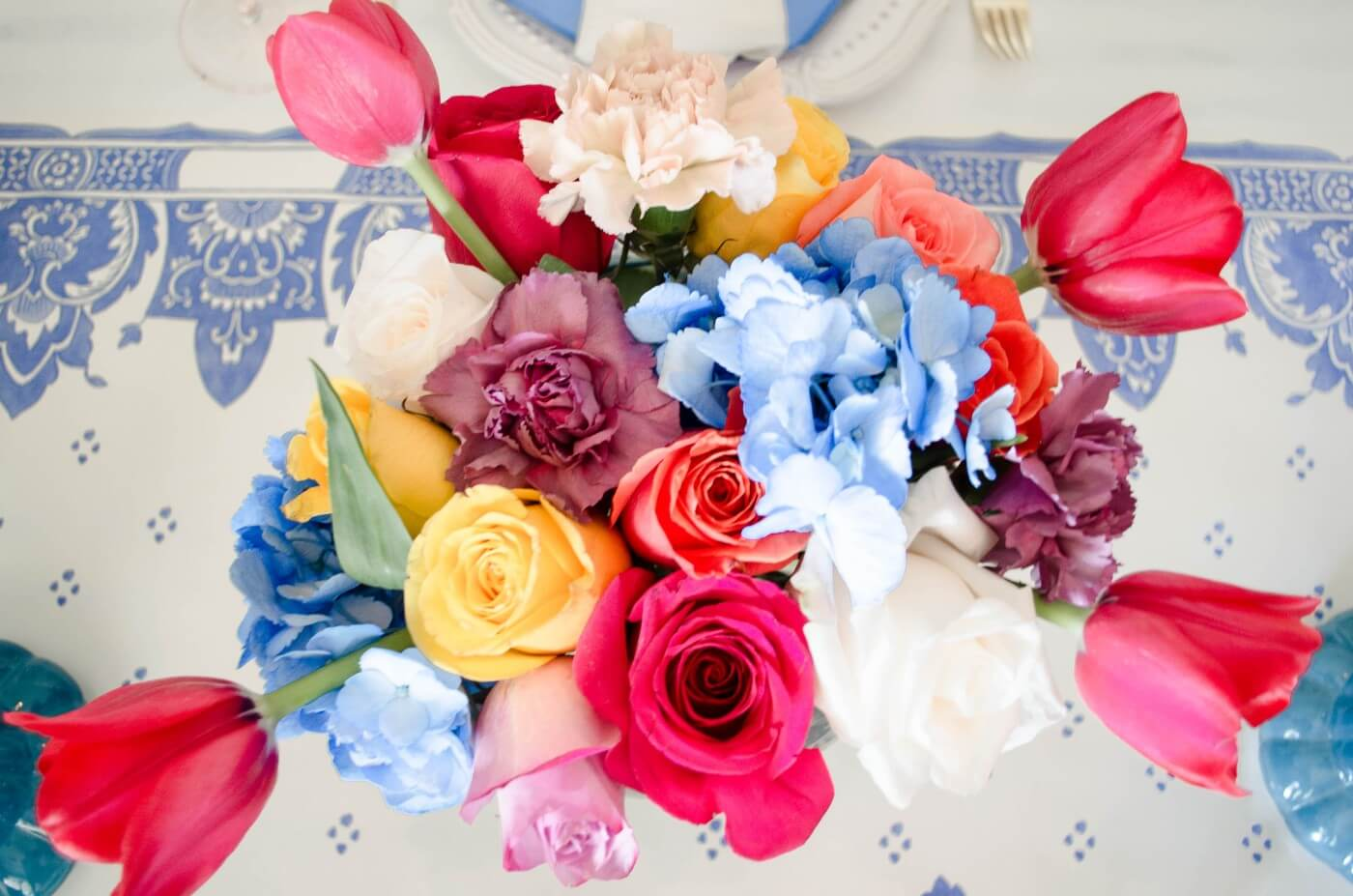 Colorful Birthday Tablescape