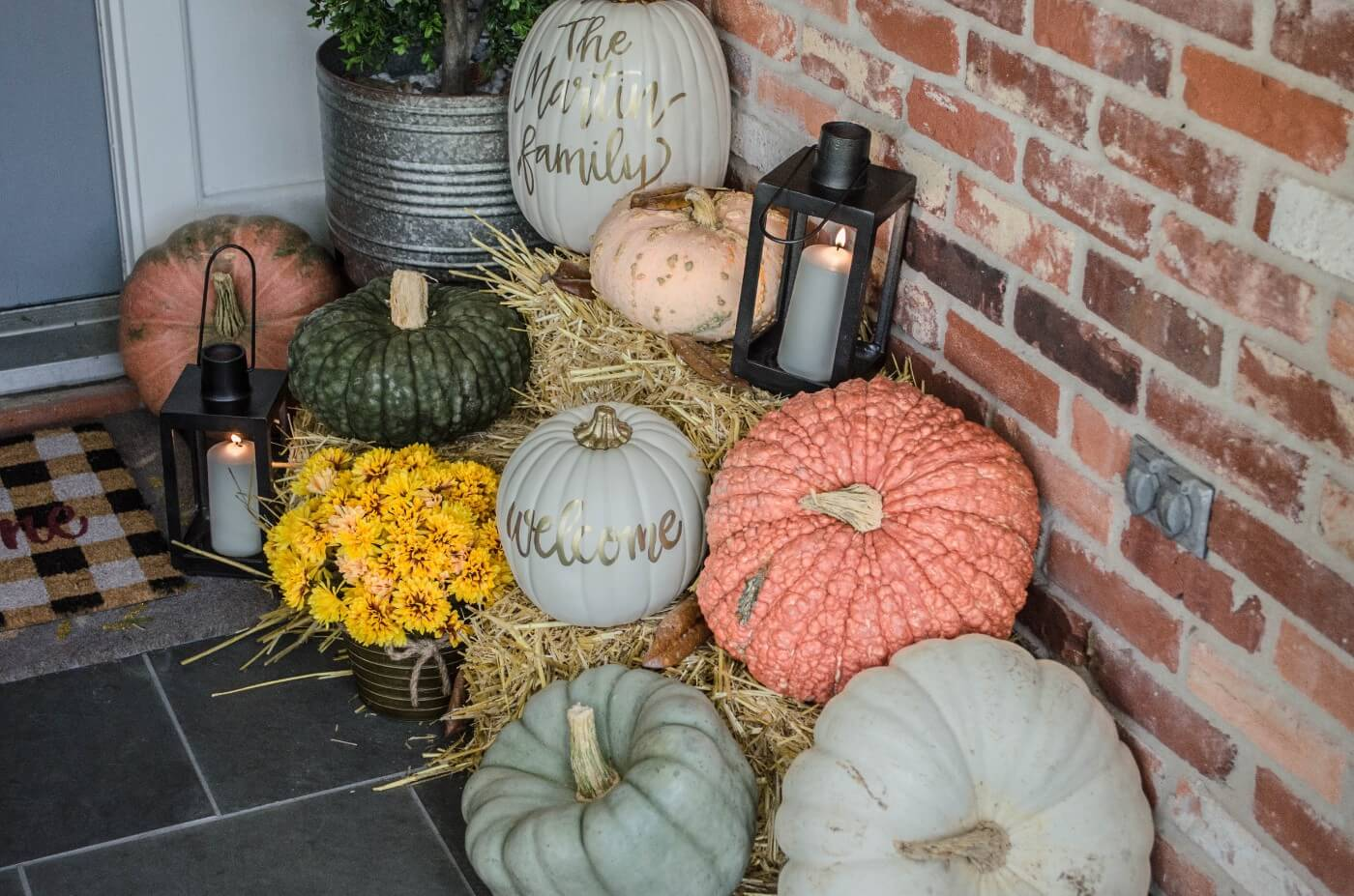 Welcome to my Fall Home Tour- Front Door