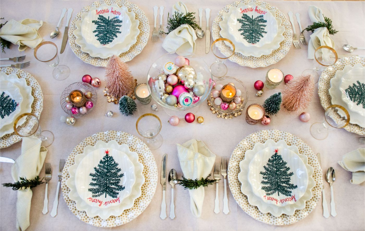Christmas Tablescape with Coton Colors