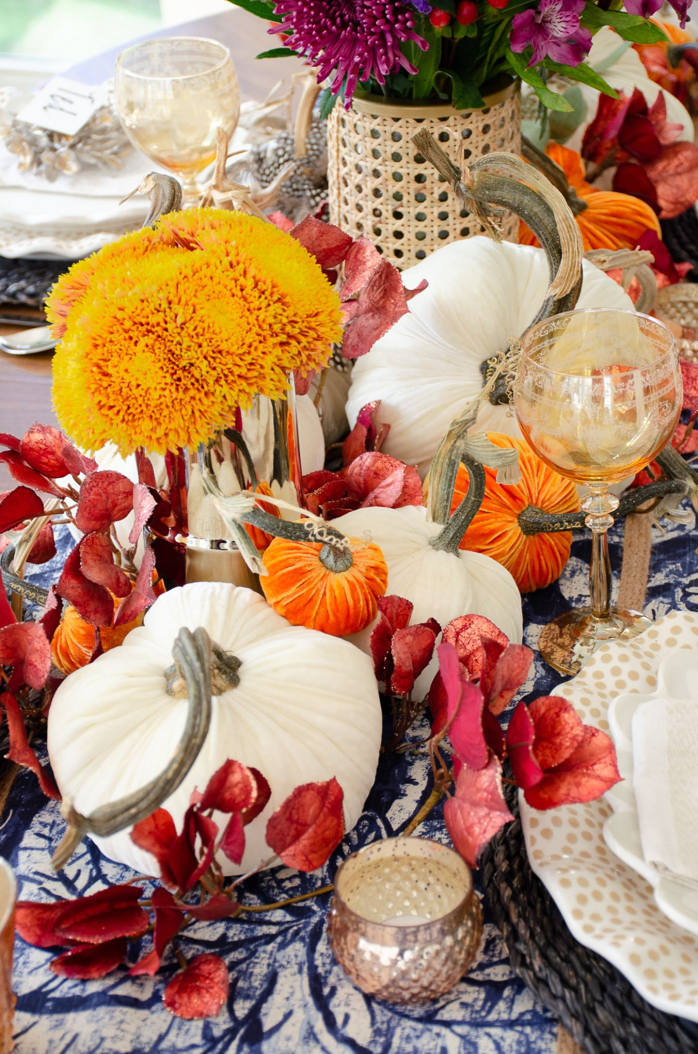 Traditional Fall Tablescape with Muted Tones